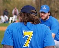 Softball/Unterbrechung Stockfoto