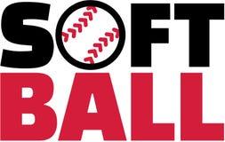 Softballa słowo Zdjęcia Royalty Free