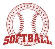 Softballdesign - tappning Royaltyfria Foton