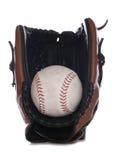 Softballhandschuh und -kugel Lizenzfreies Stockfoto