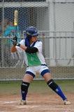 Softballspelers royalty-vrije stock foto
