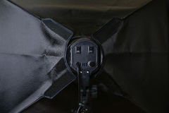 Softbox black from behind. Close up. Stock Image