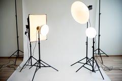 4 softboxes getrennt auf weißem Hintergrund Lizenzfreie Stockfotografie
