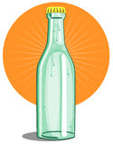 Softdrink bottle lime color Royalty Free Stock Photo