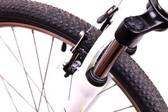 Softener of the bicycle. On white background Royalty Free Stock Photography