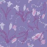 Lavender Flowers on soft purple vector illustration