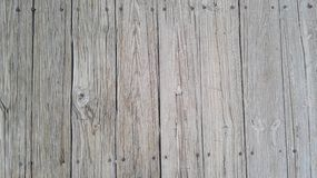 Softly detail of wood ground on the brige in the park. Royalty Free Stock Images