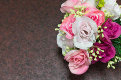 Softness of fabric roses Stock Images