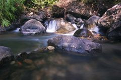 Softness of the tad kaeng nyui Waterfall III stock images