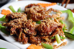 Softshell crab in hanoi. Spicy, crunchy, delicious softshell crab at a restaurant in hanoi royalty free stock photography