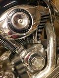 Softtail motor, skinande Chrome, l?s g?dsvin fotografering för bildbyråer