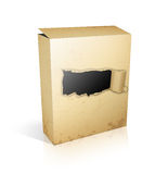 Software 3D box. Isolated on white Royalty Free Stock Photos