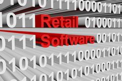 Software al por menor stock de ilustración