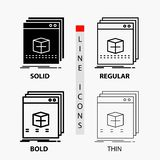 Software, App, application, file, program Icon in Thin, Regular, Bold Line and Glyph Style. Vector illustration. Vector EPS10 Abstract Template background stock illustration