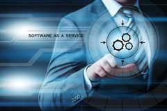 Software as a Service Network Internet Business Technology Concept Stock Images
