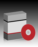 Software box. Illustration of a blank software box and a cd. EPS file available vector illustration