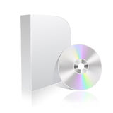 Software box and cd Royalty Free Stock Photo