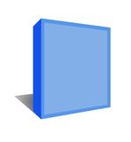 Software box with clipping path. Stock Photo