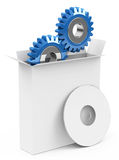 The software box. 3d generated picture of a software concept Royalty Free Stock Image