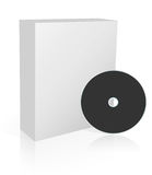 Software box with dvd. 3d software box with dvd, isolated on a white background Royalty Free Stock Images