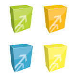 Software boxes Royalty Free Stock Images