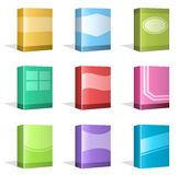 Software Boxes, Ebook Cover Designs. Vector Illustration of different Software Boxes or Ebook Cover Designs. Best for Technology, Merchandise, Application Stock Illustration