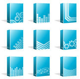 Software Boxes, Ebook Cover Designs. Vector Illustration of different Software Boxes or Ebook Cover Designs. Best for Technology, Merchandise, Application Royalty Free Illustration