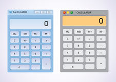 Software calculators. Software calculator on desktop wallpaper - illustration Royalty Free Stock Photos