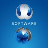 Software. Circle , abstract , icons, technology , communication , modern , fast , beautiful , elegant , male Stock Photo