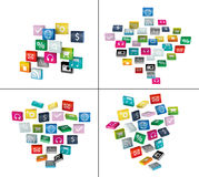 Software cloud of program icons Royalty Free Stock Photo