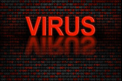 Software code or digital data infected by a virus Royalty Free Stock Photo