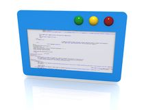 Software code illustration Stock Image