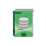 Software computer box. Icon  illustration graphic design Royalty Free Stock Images
