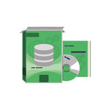 Software computer box. Icon  illustration graphic design Royalty Free Stock Image