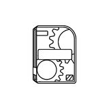 Software computer box. Icon  illustration graphic design Stock Images