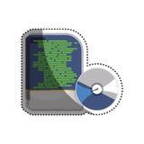Software computer box. Icon  illustration graphic design Stock Photography
