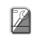 Software computer box. Icon  illustration graphic design Royalty Free Stock Photos
