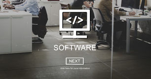 Software Computer Digital Data Homepage Concept Royalty Free Stock Photography