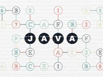 Software concept: Java on wall background Stock Photo