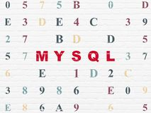Software concept: MySQL on wall background Stock Photo
