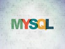 Software concept: MySQL on Digital Data Paper background