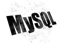Software concept: MySQL on Digital background Stock Image