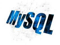 Software concept: MySQL on Digital background