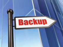 Software concept: sign Backup on Building background Stock Photography