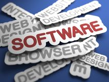 Software Concept. Royalty Free Stock Photo