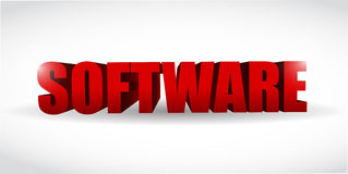 Software d text illustration design Royalty Free Stock Photos