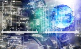 Software de ingeniería de diseño Imagen de archivo
