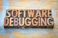 Software debugging word abstract Royalty Free Stock Photo