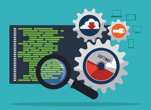 Software design. stock illustration