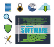 Software design. Royalty Free Stock Photo
